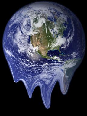 Melting globe