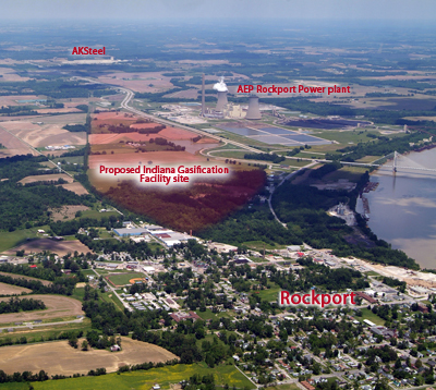 The proposed IGLLC site sat directly across US 231 from the AEP Rockport power plant and just down the road from AK Steel, which together already make Rockport. pone of the most toxic polluted places on Earth.